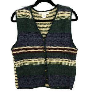 THE LIMITED Vintage Striped Sweater Vest M